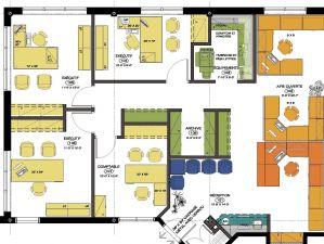 Plan d'aménagement du Bureau Comptable, Saint-Anne-des-Plaines