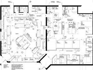Plan d'aménagement de la Pâtisserie Chocolaterie, Saint-Eustache
