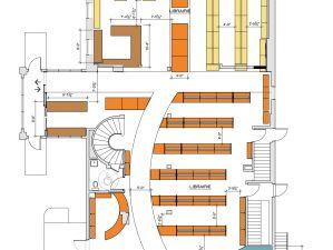Plan d'aménagement Papeterie Librairie, Repentigny