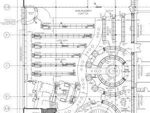 Plan d'aménagement de la Librairie, St-Jean-Sur-Richelieu