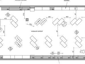 Plan d'aménagement de la Boutique, Centre Commercial, Laval