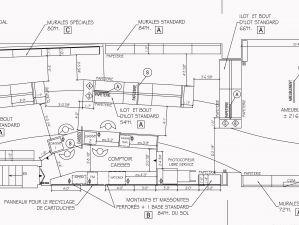 Plan d'aménagement du magasin de Fournitures de bureau, Longueuil